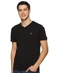 Red Tape Men's Solid Regular Fit T-Shirt (RHP0031_Black_L)