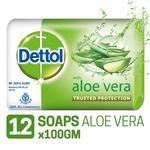 Dettol Aloevera  Soap  (Pack of 12 )
