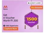 Myntra 1500 voucher at 1000 super coins(Grab fast)
