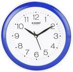 Kadio Analog 22 cm X 22 cm Wall Clock  (Blue, With Glass)