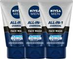Nivea Men Oil Control All In 1 Face Wash 100 ml - Pack of 3 Face Wash (300 ml)@ 389 (Mrp- ₹ 750)