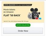 Amazon Movie : Book Rs 200 Movie At Rs.50 Using Amazon. Extra offer with 50% Cashbacks