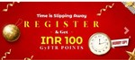 Rs.100 Free for gift card buying