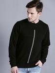 Kook N Keech Men Black Solid Sweatshirt