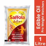 (Apply 15% coupon)  Saffola Active, Pro Weight Watchers Edible Oil, Pouch, 1 L