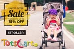 Buy Strollers With Flat 15% Off