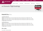 Domestic Flight booking cashback offer on Makemytrip.com app using AXIS Bank cards