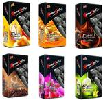 KamaSutra Excite Vanilla, Strawberry, Coffee Cappuccino, Butterscotch, Banana and Chocolate Flavoured Dotted Condom 10s (6x10) Condom  (Set of 6, 60S)