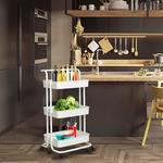 Ciplaplast : Kitchen Trolley with Wheels 3 Tier