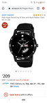 Only @209 92% off Eddy Hager Round Day & Date with Black Rubber Chain EH-272-BK
