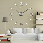 DIY Wall Clock with Frameless 3D Mirror Surface Decorative