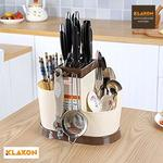 Klaxon Plastic Multifunctional Spoons, Knife and Other Kitchen Cutlery Storage Holder Stand - Beige worth Rs. 1298 for Rs. 207