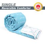 Divine Casa Luxor Abstract Microfiber Single Comforter - Blue