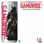 SAMURIDE Ginseng Based Energy Drink - Pack of 6, x 250 ml