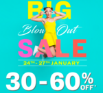 NNNOW The Big Blowout sale ( 24th -27th Jan ) 30- 60% off