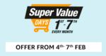 (Last day) Amazon Super Value Days 20% cashback via Amazon Pay ICICI Credit Card or 15% Cash back via ICICI Bank Internet Banking, Credit Card or Debit Card | 4-7 Feb