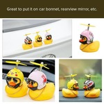69% off on Little Yellow Duck with Bamboo Dragonfly Helmet For Car Or Home Decor (Set Of 3)
