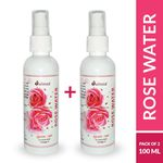 (BUY 1 GET 1 FREE) - Dalmia Rose Water With Omega 3 Spray Bottle 100 ml @ just 85