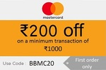 Flat 200₹ Discount on 1st Order Above 800₹ using Master Card on BigBasket