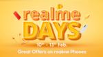 Flipkart Realme Days 10-13 Feb    10% Instant Discount upto 1000₹ on Selected Realme Smartphones using ICICI Credit Cards