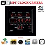 SmartCam Digital Spy Camera Ajanta Wall Clock Hidden with Motion Detection and Night Vision & SD Card Slot Full hd Mini spy Camera for Home ( WIFI range - pair with internet and access from anywhere in the world )