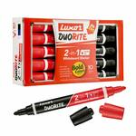 Luxor Duorite 2-in-1 Bullet Tip Whiteboard Marker - Black & Red - Pack of 10 Rs.173 @ Amazon