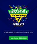 Zoomcar Anniversary Sale: Flat 50% Off and 50% Cashback