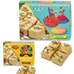 Bogatchi Soan Papdi Traditional Rajasthani Sweet for Gift, 450g and Soan Papdi Royal Indian Sweet for Gift, 250g