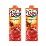 Real Fruit Juice, Pomegranate, 1L (Pack of 2)