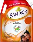 Santoor Gentle Wash Classic Sandalwood and Tulsi Handwash Hand Wash Pouch  (1500 ml)
