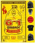 G-1 300 pcs - 19X21 Black Medium Disposable Garbage Trash Waste Dustbin Kitchen Bags & Covers