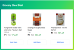 Grocery Steal Deals - 3 Items For Rs.3 ( Desi Ghee 100ml + Sugar 1kg + Raddler 300ml )
