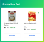 Grocery Steal Deal - 3 Items For Rs.3 Each (New Deal Delhi & Hyderabad)