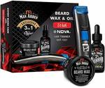 Man Arden Complete 3 in 1 Beard Kit With 7X Beard Oil & Beard Wax + NOVA Hair Trimmer - Exclusive Offer