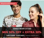 Couch ReadY Sale Min 50% off + Extra 30%