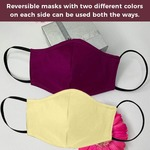 Pure Cotton Reversible & Reusable Face Protection Mask {Pack of 5 Multi-Color}