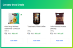 Grocery Steal Deals - 4 Items For Rs.4 ( Dal + Oil + Sugar + Almonds)