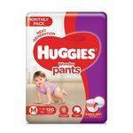 Huggies Wonder Pants, Mega Jumbo Pack Diapers, Medium Size, 120 Count