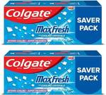 Colgate MaxFresh Anticavity Gel, Peppermint Ice Toothpaste (600g, Pack of 2)