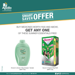 Buy medicine worth Rs.500 from Apollo Pharmacy & get FREE Glucon-D 500g or Shower to Shower 150g