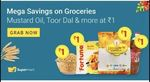 Flipkart Grocery Steal Deal - Items For Rs.1