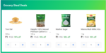 Grocery Steal Deals - 4 Items For Rs.4 (Dal + Aata + Sugar + Almonds)   Del, Mum, Blr, Hyd, Chen