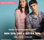 Min 50% Off + Extra 30% Off On Men's And Women's Apparel
