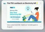 Paytm - Rs.50 Cashback on electricity Bill payment of ₹100 or above