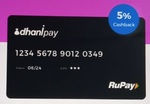 Apply DhaniPay RuPay card & get 5% cashback on all Ecommerce sites