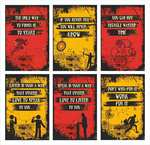 Set of 6 Inspirational posters (Red & yellow) @ 199/-
