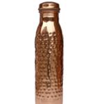 Signoraware Aqua hammered Copper Bottle, 1000ml, Set of 1, Copper