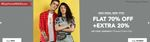 Koovs: Flat 70% Off+ Extra 20% off On Men's And Women's Clothing