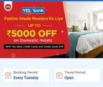 Flat 10% off on domestic flights and hotels (along with no cost emi option) on Goibibo every Tuesday for Yes Bank credit card holders.