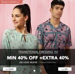 Koovs: Min 40% Off + Extra 40% Off On Men's And Women's Apparel